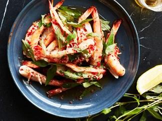 Chilli grilled prawns