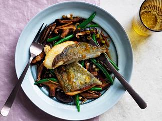 John Dory with shiitake mushrooms and ginger