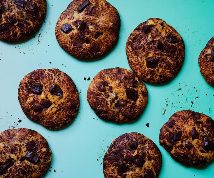 "**[Sweet Envy's chocolate and cranberry cookies](https://www.gourmettraveller.com.au/recipes/browse-all/chocolate-cranberry-cookies-17155|target=""_blank""