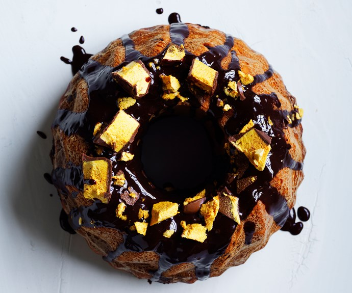 Chocolate and hazelnut Kugelhopf