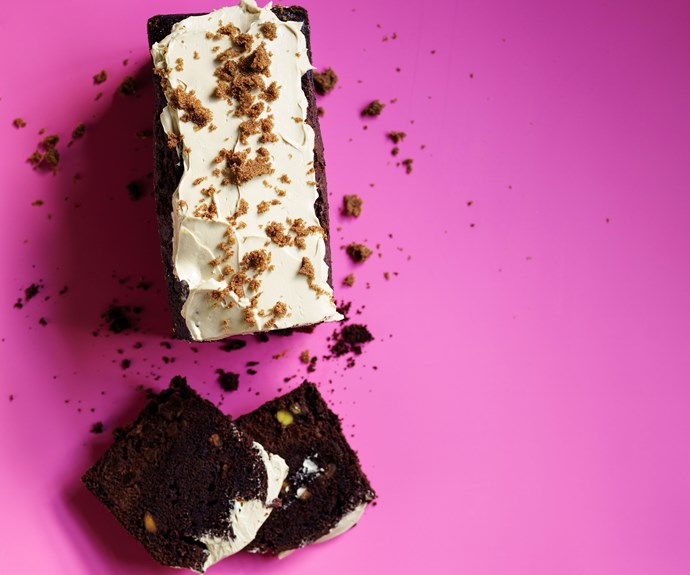 Chocolate, apricot and rum pound cake