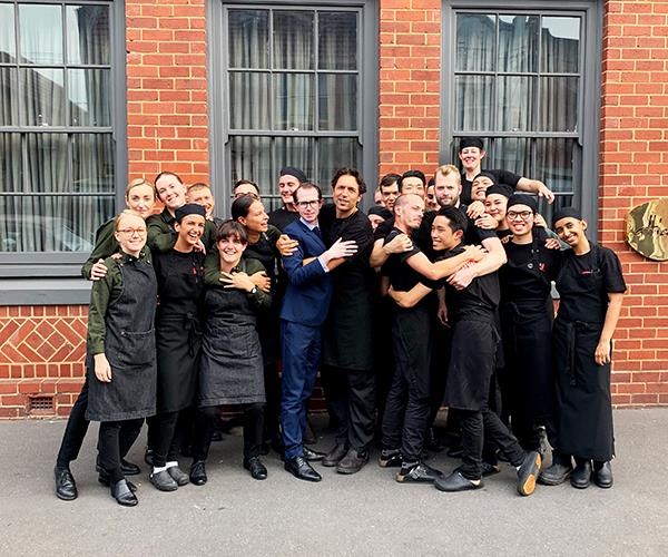 Chef Ben Shewry with the Attica team.
