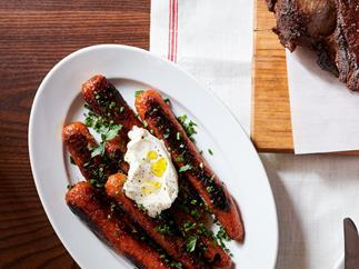 Honey-ginger roasted carrots by Leonardo's Pizza Palace