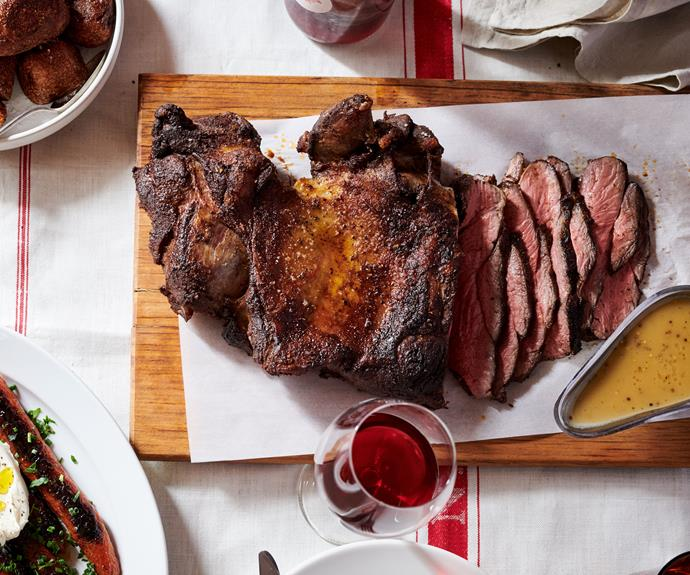 "**[Roast lamb leg with pan gravy by Leonardo's Pizza Palace](https://www.gourmettraveller.com.au/recipes/chefs-recipes/roast-lamb-leg-gravy-17175|target=""_blank"")**"