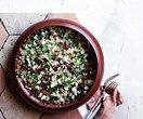 Cauliflower, pomegranate and quinoa salad