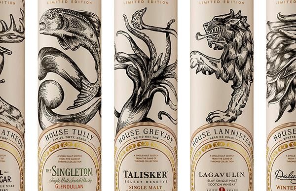 The Game of Thrones single malt whisky collection