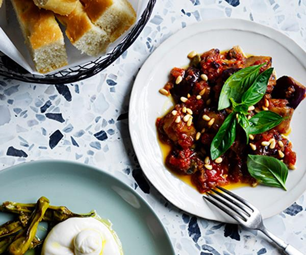 "[Capitano's caponata](https://www.gourmettraveller.com.au/recipes/chefs-recipes/basic-caponata-recipe-17027|target=""_blank""