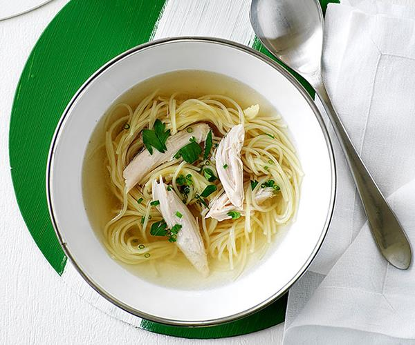 "**[Chicken soups for the soul (and your appetite)](https://www.gourmettraveller.com.au/recipes/recipe-collections/chicken-soup-recipes-15025|target=""_blank"")**"