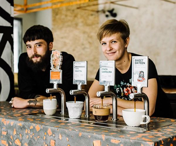 Single O batch brew taps