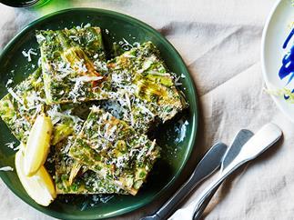 Spring green frittata
