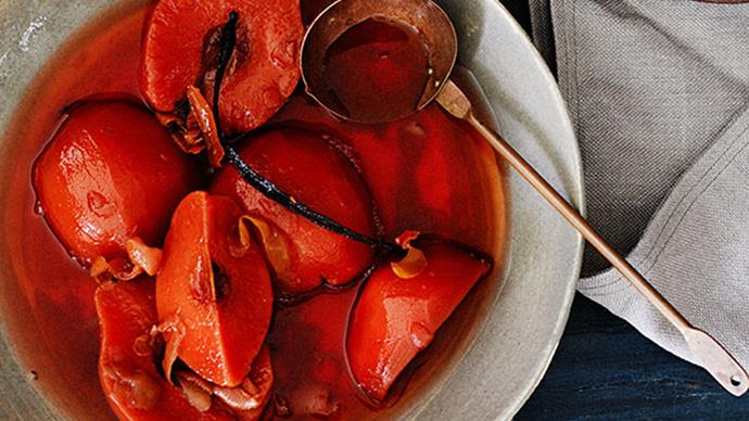 Nine-hour slow-poached quince