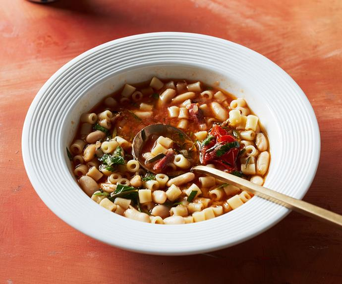 Ditali and beans with pancetta