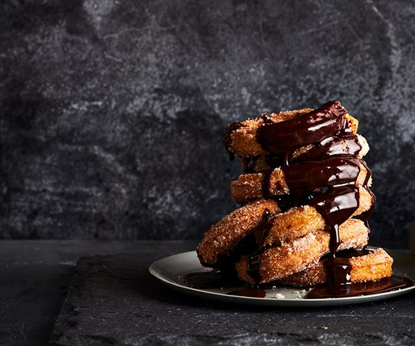Churros and chocolate sauce