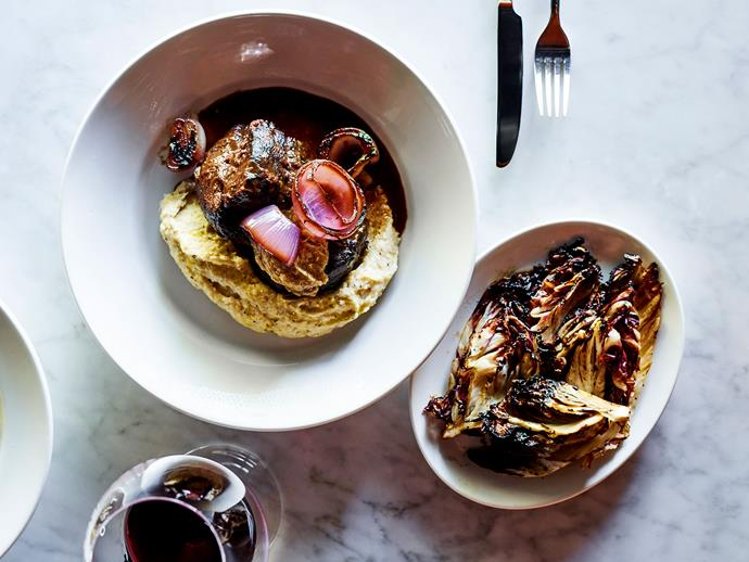 "**[Agostino's braised beef shin with Barolo and bagna cauda (bresato al barolo, bagna cauda)](https://www.gourmettraveller.com.au/recipes/chefs-recipes/braised-beef-shin-17280|target=""_blank"")**"