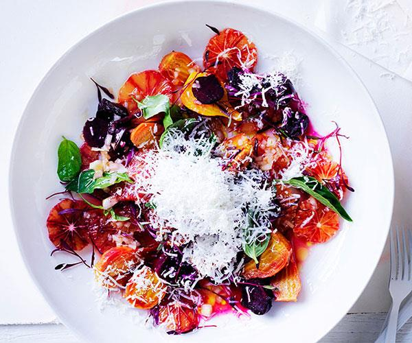Roast beetroot and blood orange salad