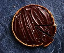 Guillaume Brahimi's salted caramel and chocolate ganache tart