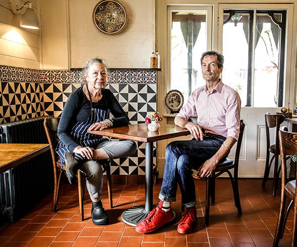 Chef Tansy Good and sommelier John Evans.