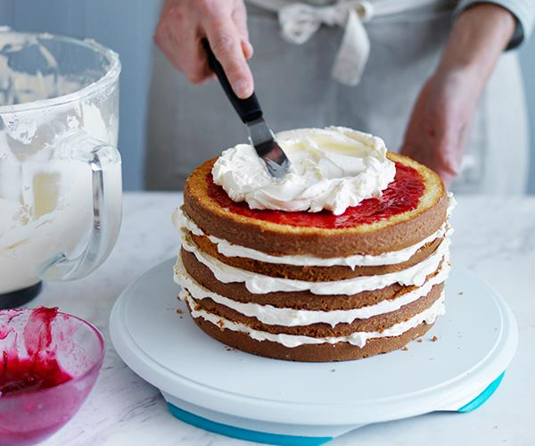 Vanilla-rose layer cake