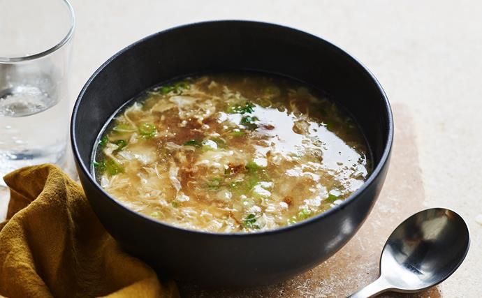 Egg and crab soup