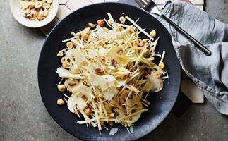 Celeriac and mushroom salad with parmesan