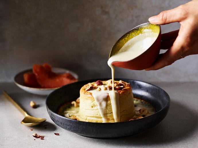 "You've been meaning to make: **soufflé**.<br/> So make: **[Bistro Gitan's twice-baked Roquefort soufflé with poached quince](https://www.gourmettraveller.com.au/recipes/chefs-recipes/roquefort-souffle-17412|target=""_blank""