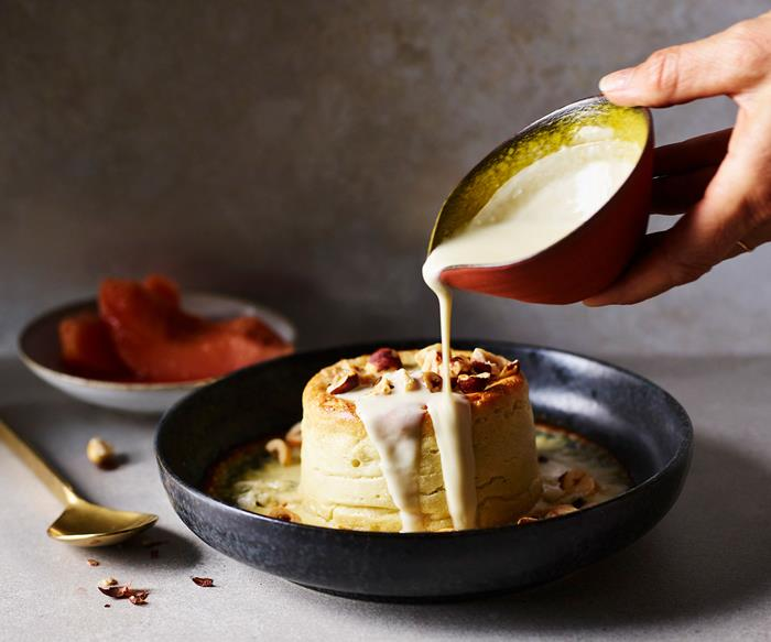 Twice-baked Roquefort soufflé