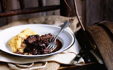 Braised beef cheeks with creamed swede