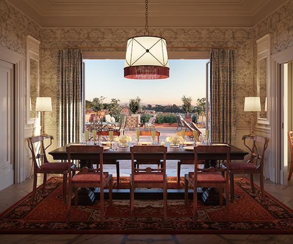 The Presidential Suite at Hotel de la Ville. Rome