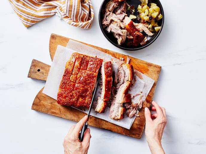 "**[How to make the perfect roast pork](https://www.gourmettraveller.com.au/recipes/explainers/roast-pork-recipe-17441|target=""_blank"")**"