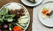 Sunda's beef rice paper rolls