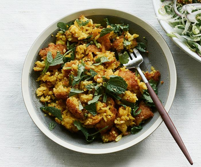 Crisp rice salad
