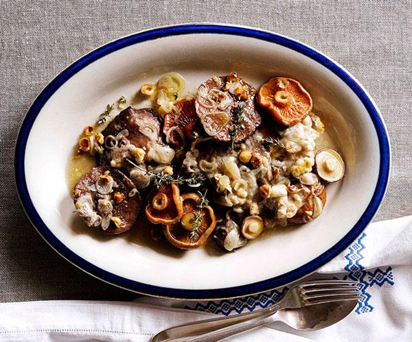 "**[Jacques Reymond's baked mushrooms](https://www.gourmettraveller.com.au/recipes/chefs-recipes/jacques-reymond-baked-mushrooms-7405|target=""_blank"")**"