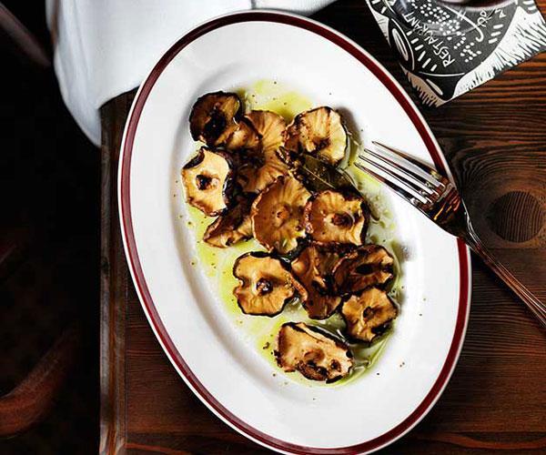 Restaurant Hubert's shiitakes à la Grecque