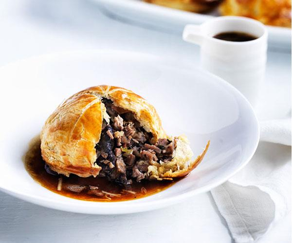 "**[Christine Manfield's five-spice duck and shiitake pies](https://www.gourmettraveller.com.au/recipes/chefs-recipes/christine-manfields-five-spice-duck-and-shiitake-pies-8528|target=""_blank"")**"