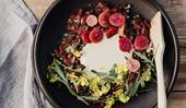 Analiese Gregory's wallaby tartare with anchovy dressing