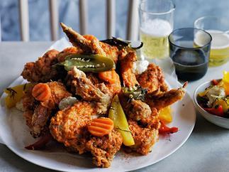 Fried chicken alla diavola