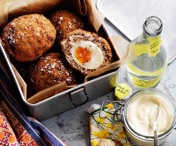 "[**Scotch eggs**](https://www.gourmettraveller.com.au/recipes/browse-all/scotch-eggs-8744 target=""_blank"")"
