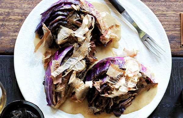 Automata's roasted red cabbage with bonito butter