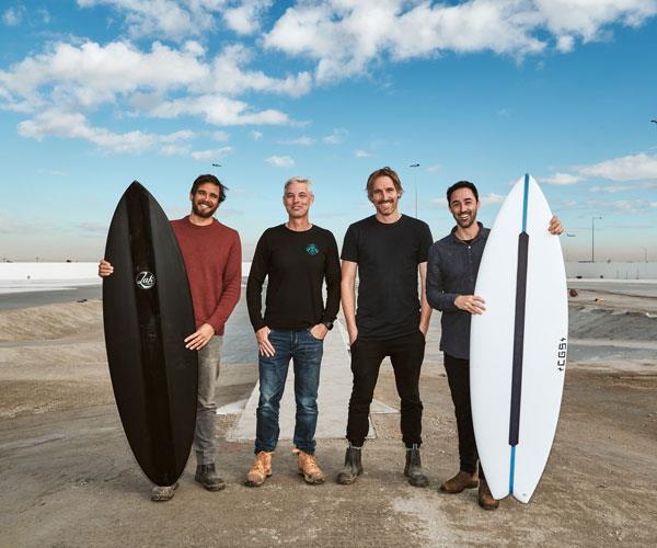Three Blue Ducks team at Urbnsurf Melbourne
