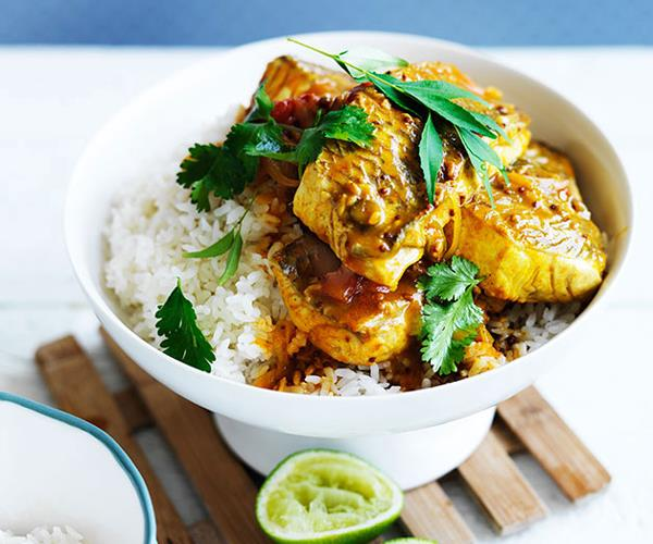 "**[Fish curry recipes](https://www.gourmettraveller.com.au/recipes/recipe-collections/fish-curry-recipes-17516|target=""_blank"")**"