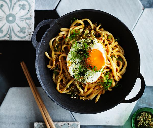 """**[All-day noodles with fried egg and furikake](https://www.gourmettraveller.com.au/recipes/browse-all/all-day-noodles-with-fried-egg-and-furikake-12704