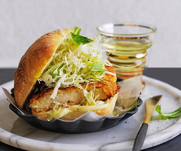 Chicken cotoletta panini