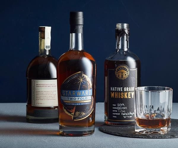 Bottles of Australian whiskey