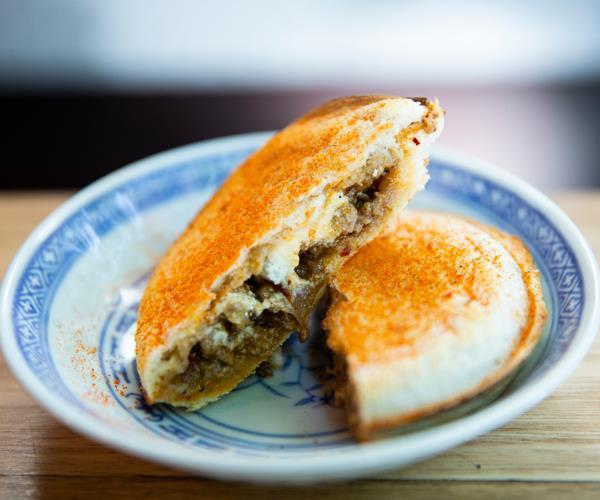 Super Ling's ma po tofu jaffle