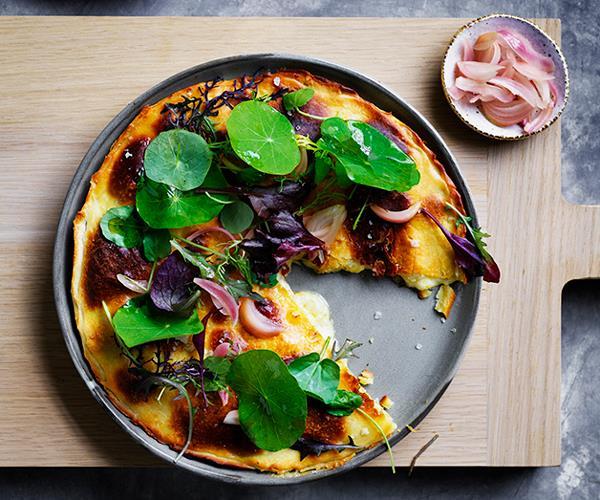 "**[Mat Lindsay's cheddar pie](https://www.gourmettraveller.com.au/recipes/chefs-recipes/esters-cheddar-pie-8511|target=""_blank"")**"