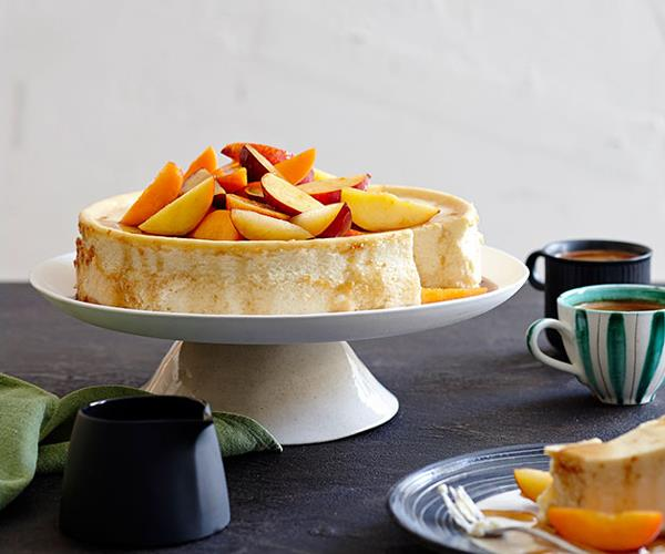 "**[Ricotta cheesecake with end-of-summer fruit](https://www.gourmettraveller.com.au/recipes/browse-all/ricotta-cheesecake-with-end-of-summer-fruit-11916|target=""_blank"")**"