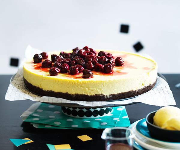 "**[Cherry cheesecake with cherry-pit ice-cream](https://www.gourmettraveller.com.au/recipes/browse-all/cherry-cheesecake-with-cherry-pit-ice-cream-12108|target=""_blank"")**"