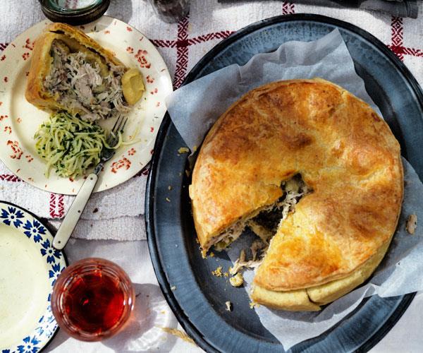 """**[Chicken pie](https://www.gourmettraveller.com.au/recipes/browse-all/chicken-pie-12068 target=""""_blank"""")**"""