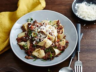 Massi's pappardelle with osso buco ragù
