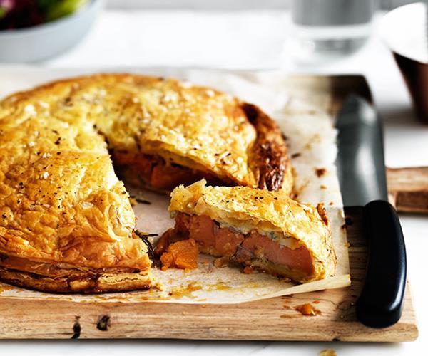 Pumpkin, Gorgonzola and rosemary pie